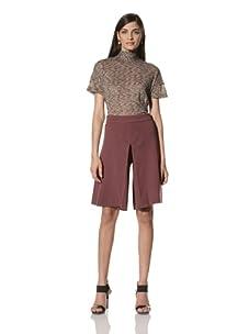 M Missoni Women's Split Skirt (Burgundy)