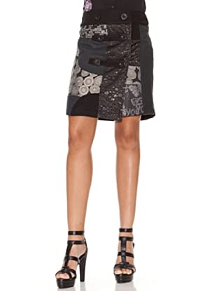 Desigual Falda Serie Botones (negro)