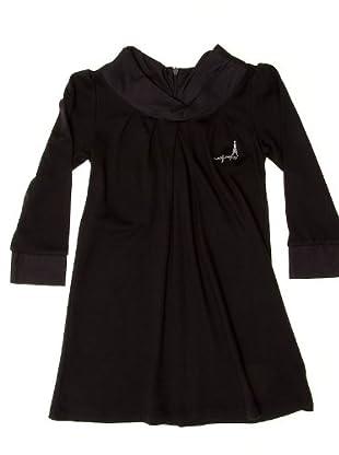 Naf Naf Chevignon Vestido Plisado Liso (negro)
