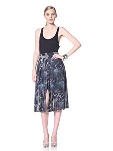 Timo Weiland Women's Pleated Double Skirt (Lilly Pad Print)