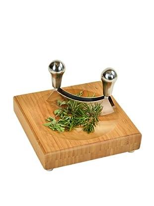 Picnic at Ascot Mincing Knife & Board Set, Natural