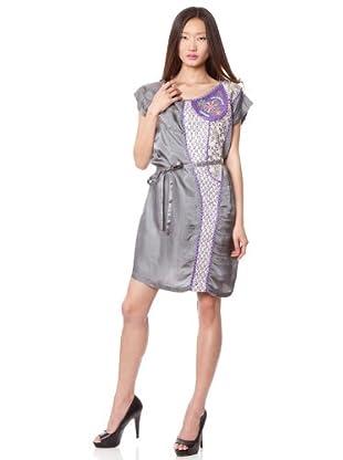 Custo Vestido Tian (Gris / Morado)