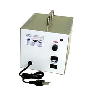 【クリックで詳細表示】日章工業 トランスフォーマSKシリーズ(電圧アップ・ダウン両用タイプ)AC240V⇔AC100V1600W SK-1600EX