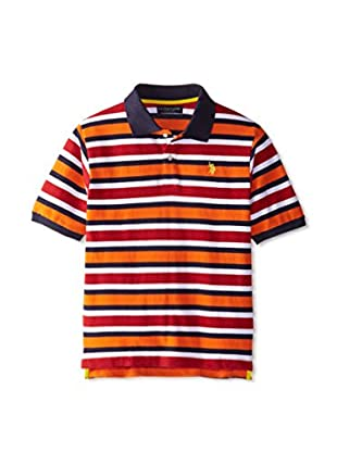 U.S. Polo Assn. Boy's Stripe Pique Polo