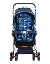 Mee Mee Baby Pram with Adjustable Seating Positions and Reversible Handle (Navy Blue)