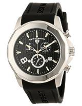 Swiss Legend Men's 10042-01 Monte Carlo Chronograph Black Textured Dial Black Silicone Watch