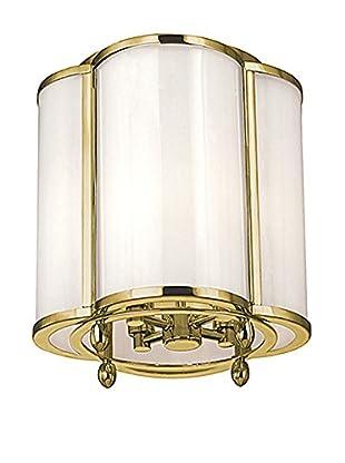 Hudson Valley Lighting Berkshire 4-Light Semi Flush, Aged Brass/Clear/White