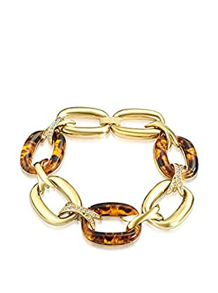 Saint Francis Crystals Armband Made with Swarovski® Elements gelbvergoldet/braun