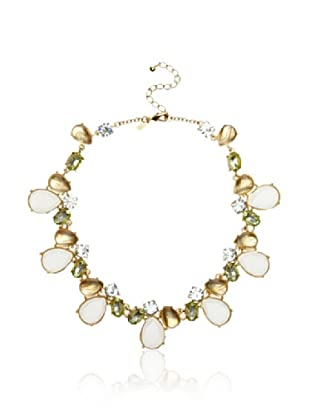 Leslie Danzis Pearl and Crystal Stone Cluster Necklace