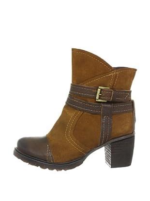 Buffalo London 46 JARANA CHESTER 137495 - Botines fashion de cuero para mujer (Marrón)