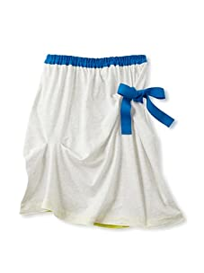 kicokids Girl's Asymmetric Jersey Skirt (Milk)