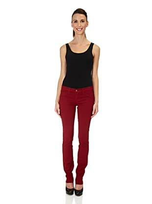 J Brand Hose Japanese Twill Low Rise Pencil Leg (blackcherry)