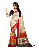 Multi Color Art Bahgalpur Silk Saree with Blouse 12531