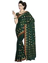 Aadarshini Women's Cotton Saree (110000000092, Green)