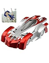 Sirius Toys WALL CLIMBER CAR - RADIO CONTROL - ZERO GRAVITY WALL CLIMBING RC CAR - RED