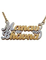 OROSILBER Personalized Couple Bling Name Necklace for a Special Person 06OPBJ