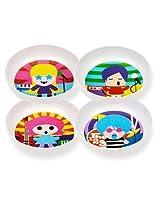 French Bull - BPA Free Kids Bowls - Melamine Kids Bowl Set - Kids Dinnerware - Rock Star, Set of 4