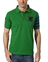 Peter England Solid Slim Fit Polo Tee
