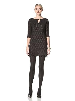 Yoana Baraschi Women's Lace Dot Shift Dress (Black)