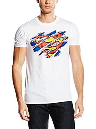 DC Comics T-Shirt Manica Corta Superman Torn Logo