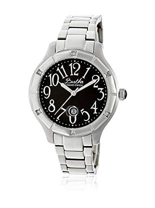 Bertha Uhr mit Schweizer Quarzuhrwerk Jaclyn silberfarben 41 mm
