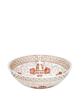 Three Hands Red/White Ceramic Bowl
