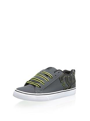 DC Men's Court Sneaker (Dark Shadow/Black)