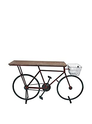 Sagebrook Home Bicycle Console Table, Multi