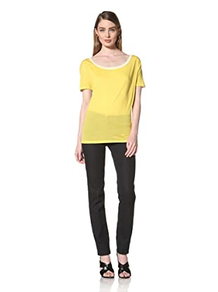 Loomstate 321 Knits Women's Nami Scoop Neck Tee (Yellow/Green/Grey)