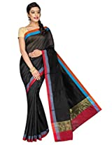 Korni Cotton Silk Banarasi Saree DS-1529- Black KR0473