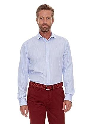 Cortefiel Camisa Fil a Fil (Azul Claro)