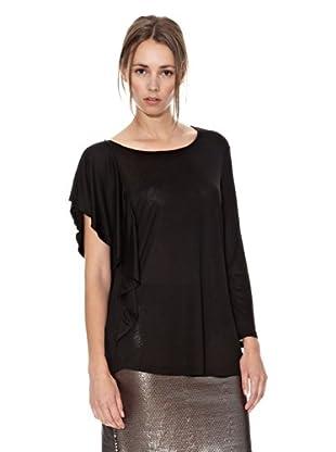 Mango Camiseta Nadia (Negro)