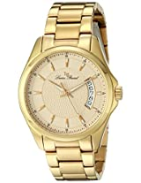 Lucien Piccard Men's 98660-YG-77 Excalibur ChampagneTextured Dial Gold Ion-Plated Stainless Steel Watch