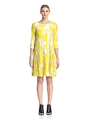 Sfizio Women's Printed Dress with Pleats