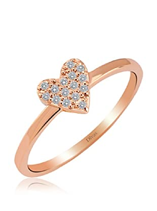 Divas Diamond Anillo Corazón Piedras