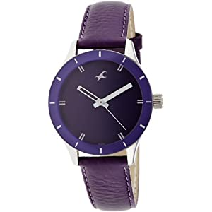 Fastrack Monochrome Analog Purple Dial Women's Watch - 6078SL05