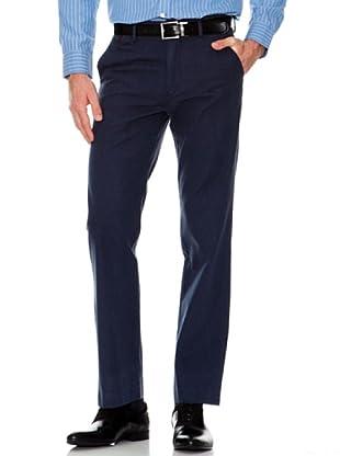 Dockers Pantalón Recto Tejido Mini Espiga (azul marino)