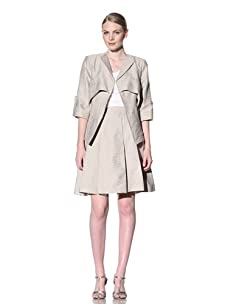 Christian Siriano Women's Cropped Sleeve Jacket (Croc)