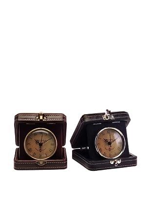 Voyager Set of 2 Travel Clocks