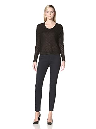 Isabel Lu Women's High-Low Sweater (Black)