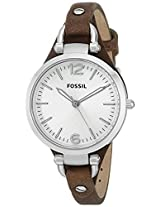 Fossil Georgia Analog Silver Dial Women's Watch - ES3060
