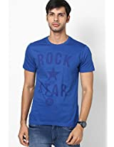 Blue Slim Fit Round Neck T-Shirt