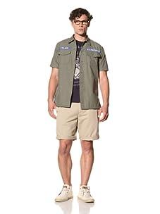 Under 2 Flags Men's Usaf Short Sleeve Shirt (Usaf Green)