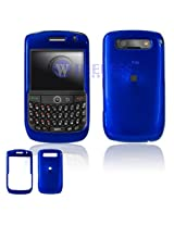 Hard Plastic Blue Phone Protector Case For BlackBerry Curve 8900