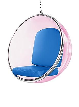 Manhattan Living Pink Bubble Hanging Chair, Blue