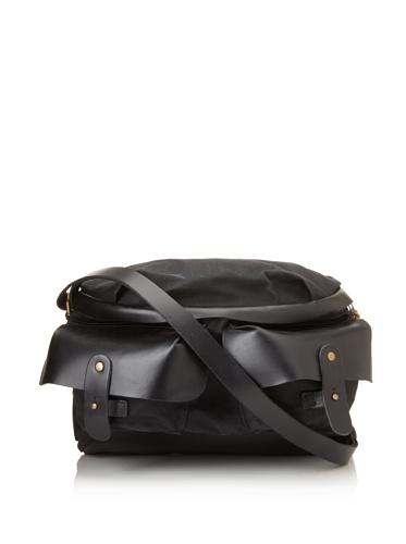 theMADLY Men's Tillmans Cross-Body Utility Bag (Black w/Canvas)