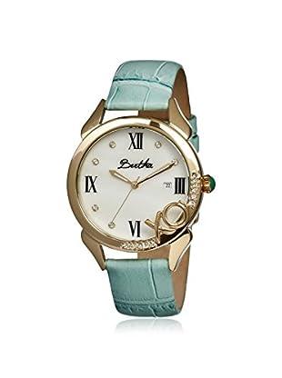 Bertha Women's BR2305 XO Powder Blue/White Leather Watch