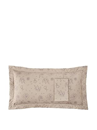 Twinkle Living Pair of Rose Pillow Shams (Walnut/Grape)