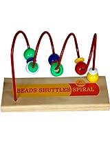 Little Genius Beads Shuttles Spiral, Multi Color
