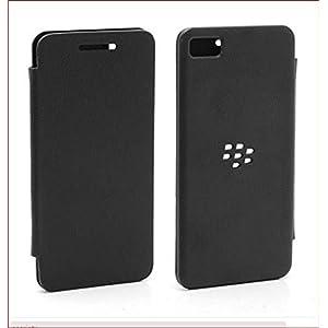 Exxon Flip Case Cover For BlackBerry Z3 (Black)
